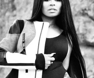 style, blac chyna, and black hair image