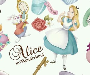 alice in wonderland, wallpaper, and alice image