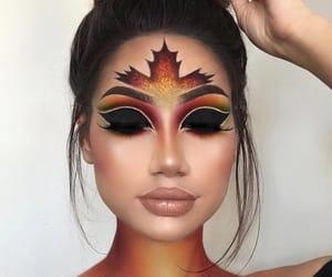 makeup, autumn, and fall image