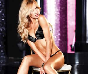 angel, blonde hair, and lingerie image