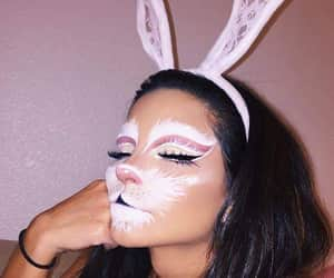 Halloween, makeup, and bunny image