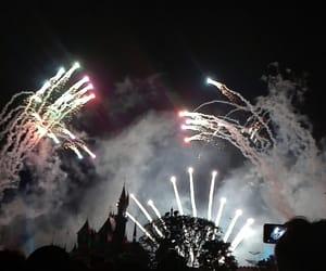 castle, night, and disneyland image