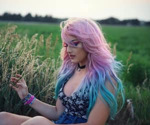 choker, colorful, and meadow image