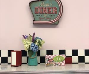 diner, old school, and vintage image