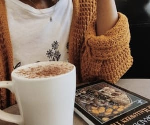 autumn, coffee, and fall fashion image