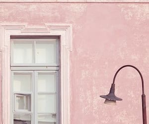 pink, window, and house image