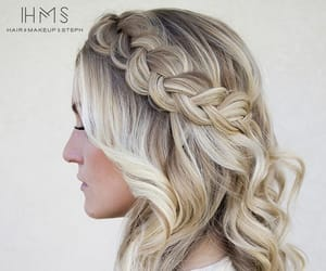 beauty, braided hair, and hairstyle image