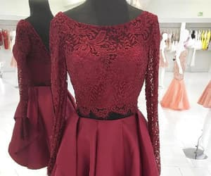 long sleeves prom dresses, prom dresses short, and homecoming dresses lace image