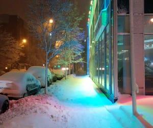 snow, light, and winter image
