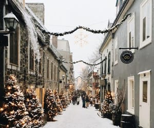 christmas, street, and winter image