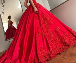 dresses, red, and lace dresses image