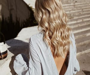 back, backless, and blonde image