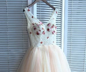 a-line homecoming dress, prom dress cheap, and v neck homecoming dress image