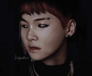 art, yoongi, and fan art image