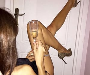 babe, legs, and champagne image