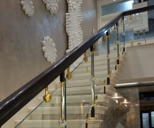 luxury staircase, staircase railing india, and modern staircase railing image