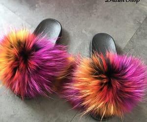 fur, multicolor, and slipper image