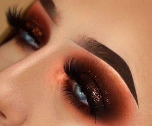 autumn, eyeshadow, and glitter image