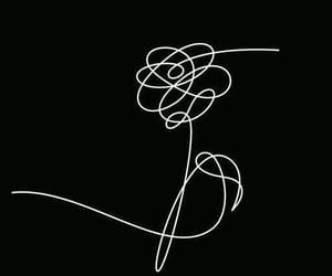 black, music, and flower image