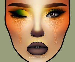 art, colorful makeup, and digital art image