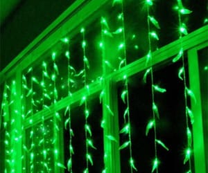 green and lights image