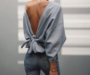 back, jeans, and outfit image