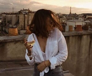 girl, paris, and vintage image