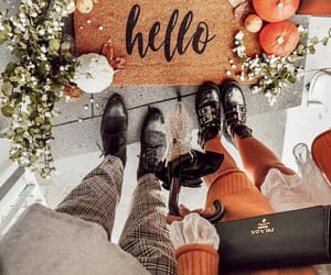 autumn, boots, and hello image