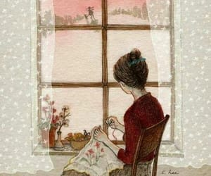 cat, mother, and window image
