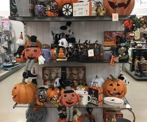 decor, Halloween, and pumpkin image