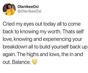 balance, breakdown, and worth image