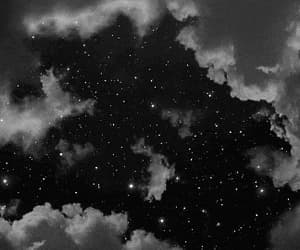black and white, gif, and night image