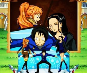 one piece, monkey d luffy, and nico robin image