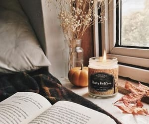 aesthetic, book, and candle image