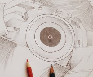 camera, skizze, and draw image