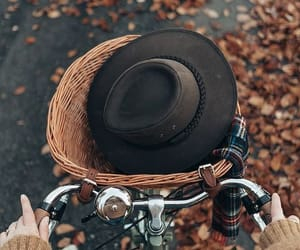 autumn, inspiration, and bycicle image