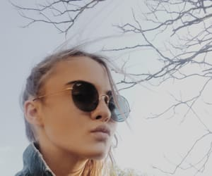 Calvin Klein, girl, and glasses image