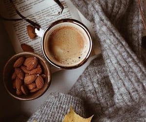 autumn, sunglasses, and coffee image