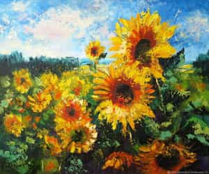 art, flowers, and Oil Painting image