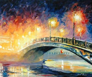 art, lights, and Oil Painting image