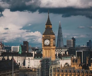 autumn, Big Ben, and grey image