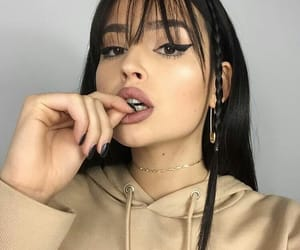 bangs, beige, and icons image