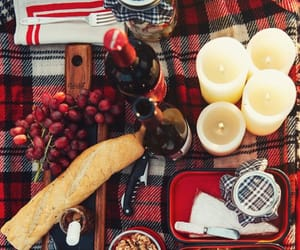 autumn, candles, and picnic image