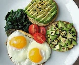breakfast, egg, and green image