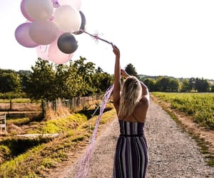 baloons, birthday, and blonde image