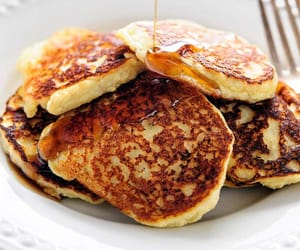 autumn, delicious, and pancakes image