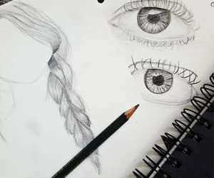 draw, drawing, and eye image