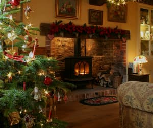 celebration, fireplace, and home image