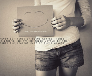 quote, smile, and heart image