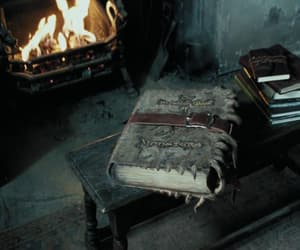 books, fireplace, and film image